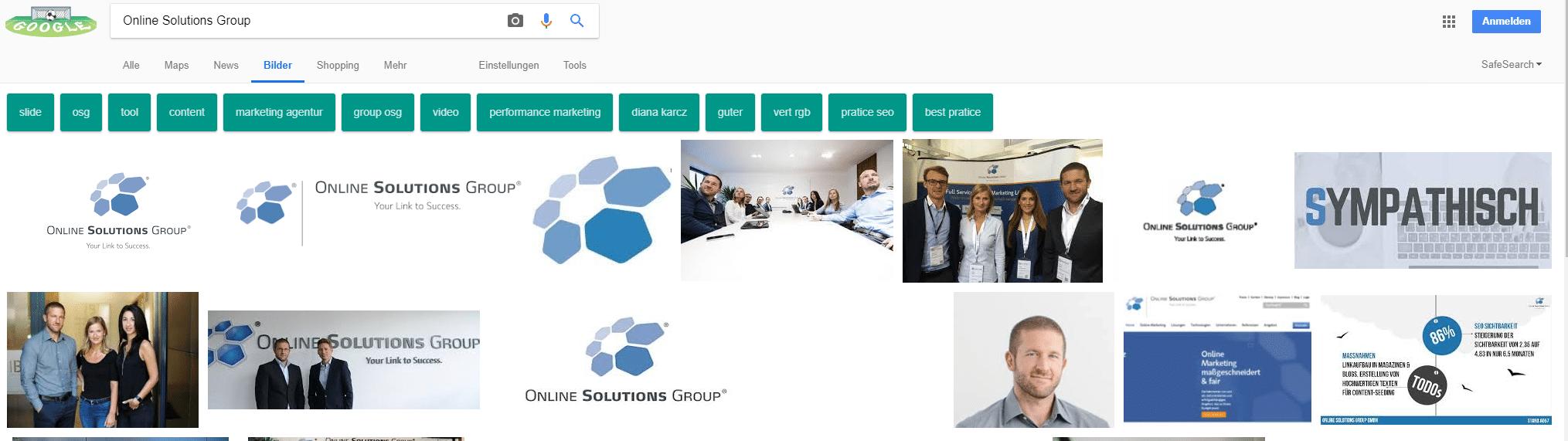 Beispiel Google Bildersuche am Beispiel Online Solutions Group