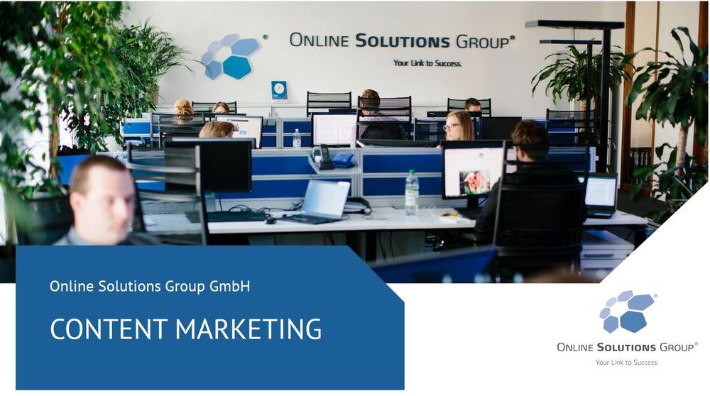 Content Marketing präsentation