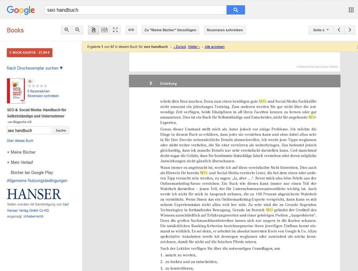 Google Books Leseprobe