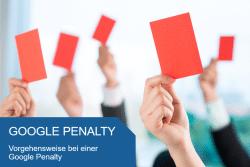 Vorgehensweise bei Google Penalty